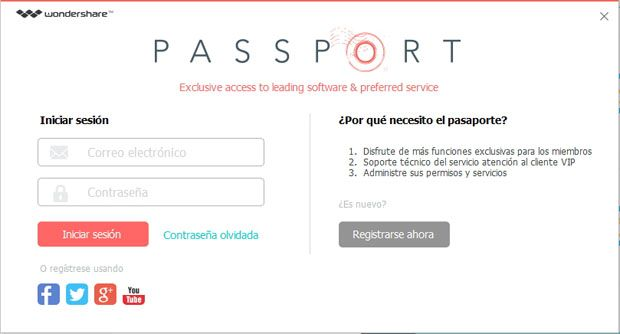 sign in wondershare passport