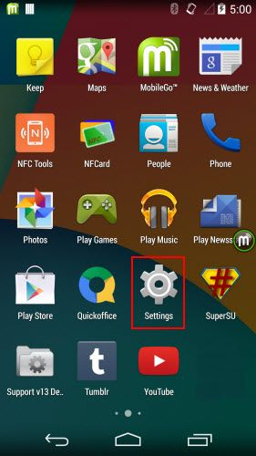 tick usb debug android 4.4