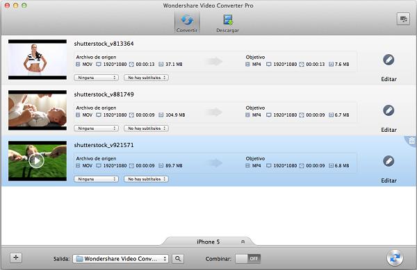 Cómo convertir MOV a formatos de archivo compatibles con iPad