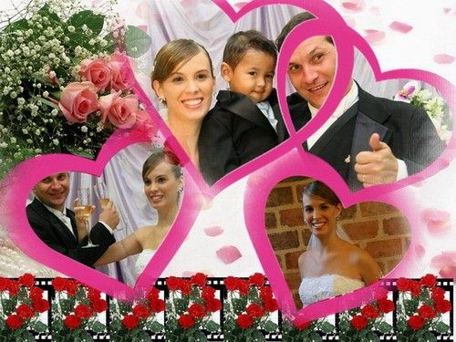 wedding photo collage