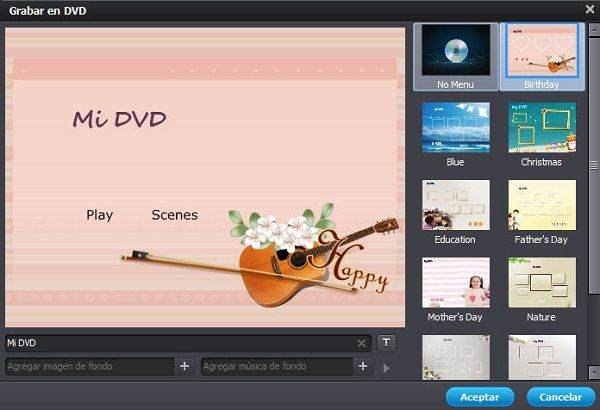 MPEG to dvd