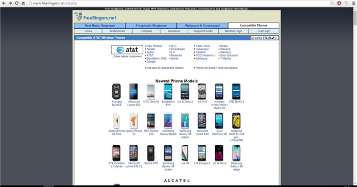 Websites to Download Free AT&T Ringtones