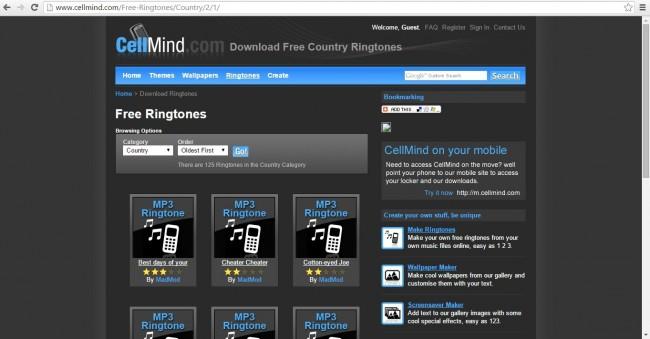 Top 10 Ringtone Websites descargar tonos gratis para iPhone/Android teléfonos