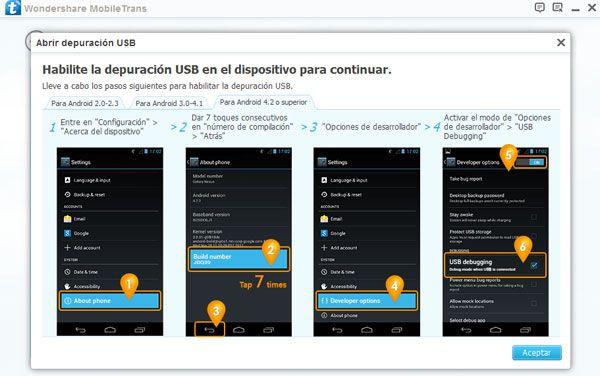 transferir contactos de iCloud hacia Android