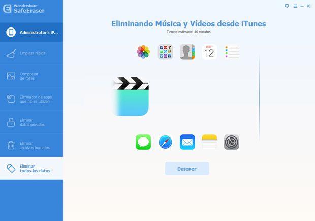 Empieza borrando todos los datos en tu dispositivo iOS