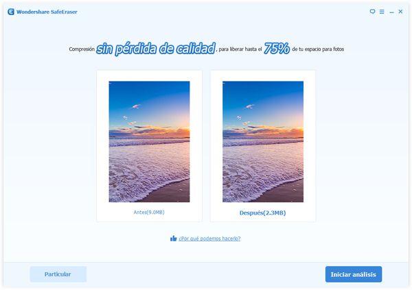 comprimir fotos en el iPhone