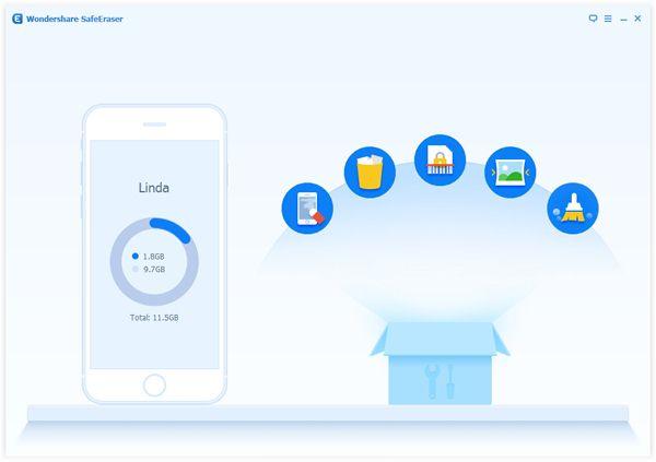 Borrar datos en iphone con Wondershare SafeEraser