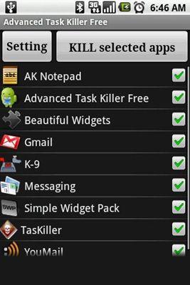 Avanzado Task Killer para Android
