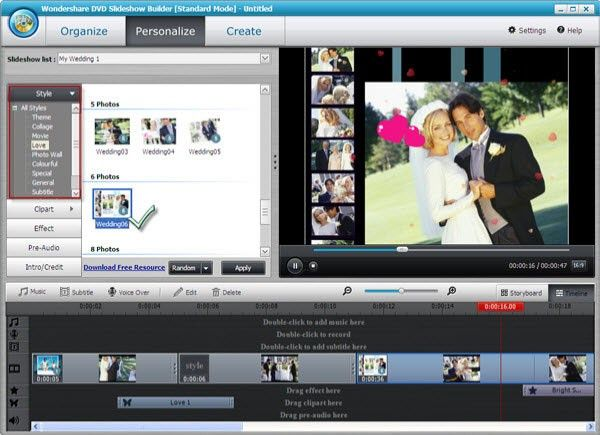 dvd slideshow with music