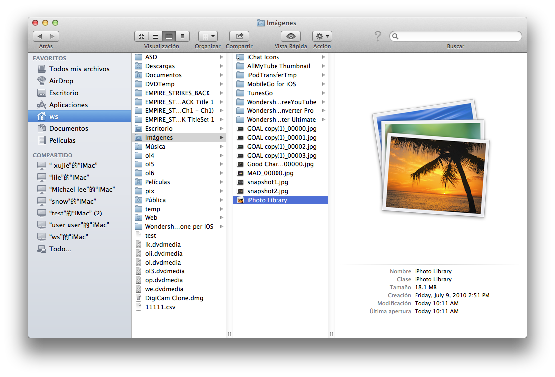 Cómo mover la biblioteca de iPhoto a una nueva ubicación / ordenador