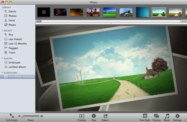 creación de presentaciones con iphoto