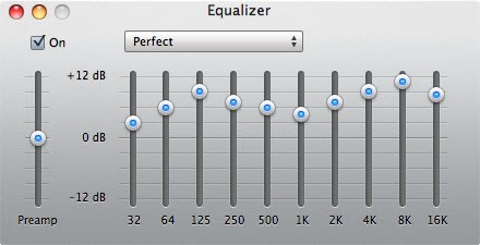 perfect itunes equalizer setting