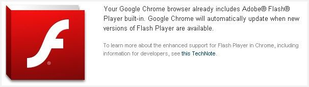 reproductor flash youtube en chrome