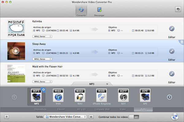 Convertir AIFF, M4B, M4R a MP3 para subir a Google Music