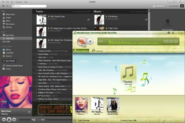 grabar musica spotify