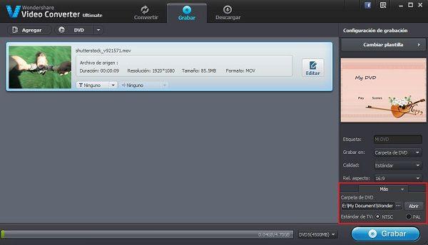 programa grabador de archivos de vuze en dvd con menú dvd