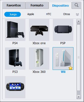 choose Wii as the formato