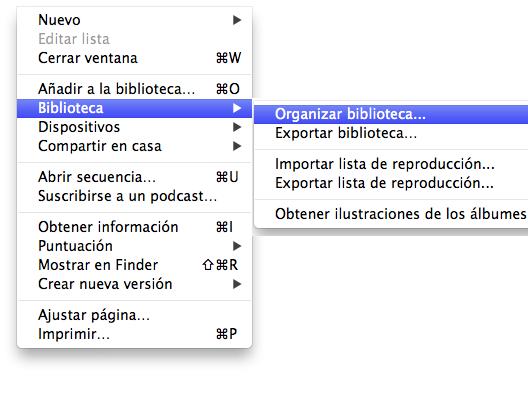 backup de la biblioteca de iTunes en un disco duro externo