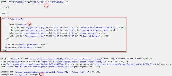 código de inserción de presentación en html5
