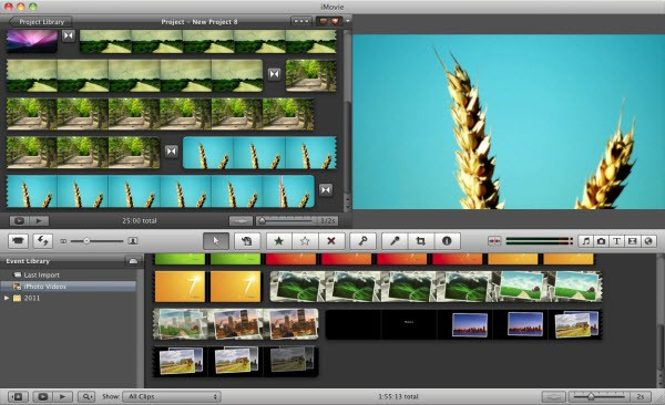 imovie slideshow screen