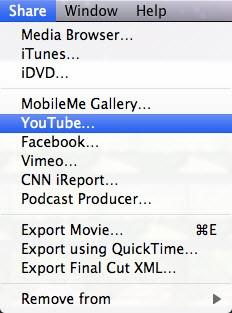 imovie slideshow share