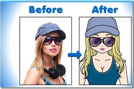 convert photo to cartoon