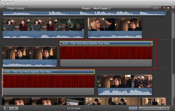 Añadir Subtítulos en iMovie
