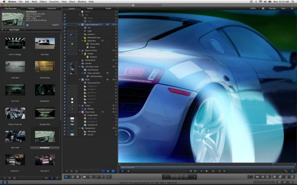 motion de apple, alternativa a after effects