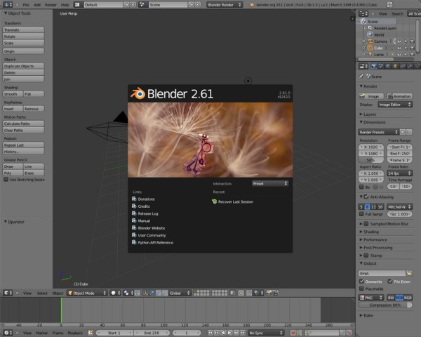 blender, alternativa a after effects