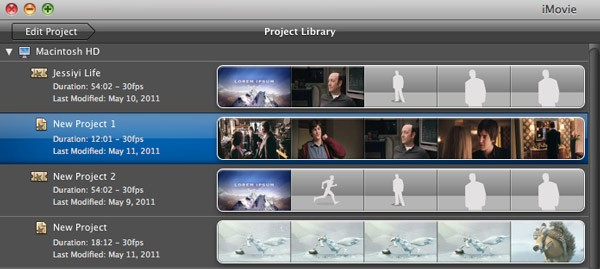 imovie finalize project