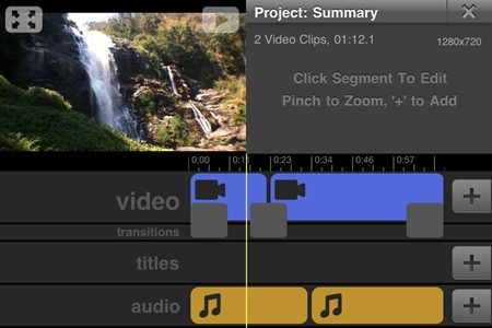 editor de video gratuito para el iphone