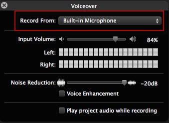 iMovie voiceover