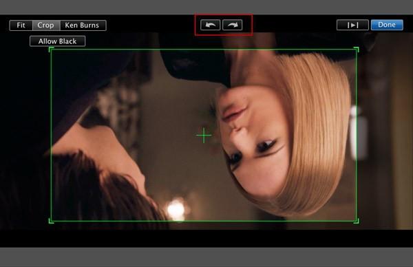 rotar videos in imovie