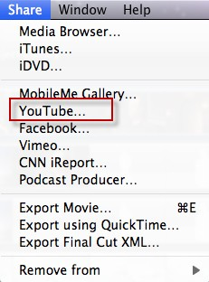 imovie to youtube