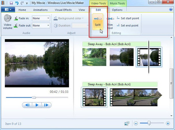 dividir videos en windows live movie maker